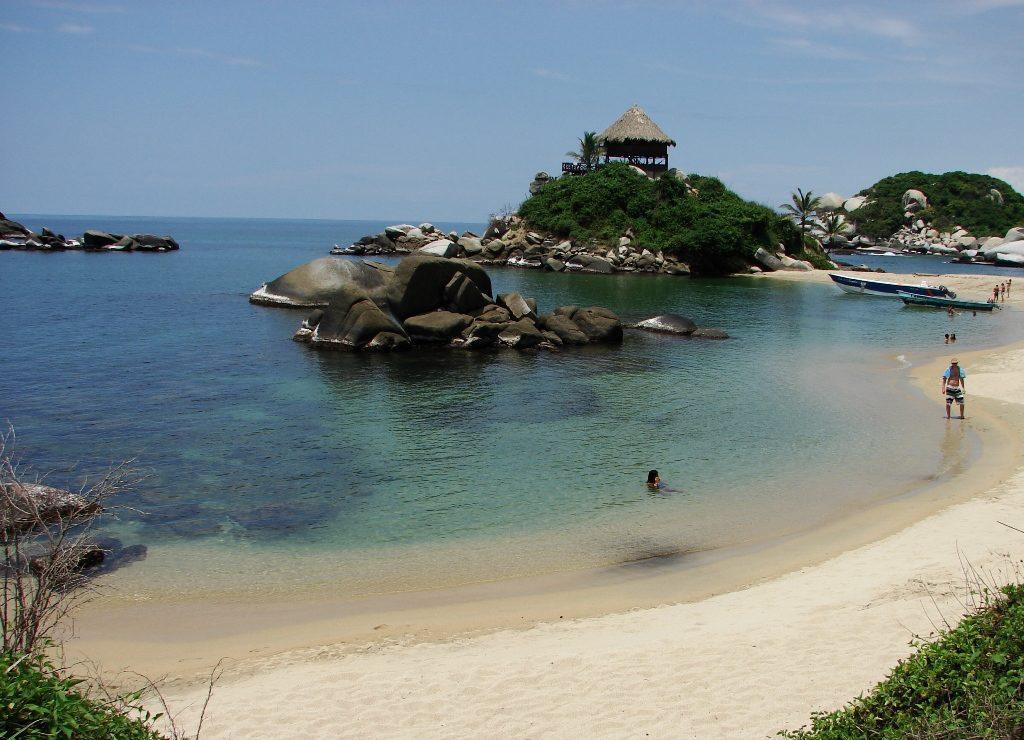 karaibska plaża Cabo San Juan, Park Tayrona, Kolumbia