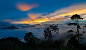 Ekwador mgła Ameryka Południowa