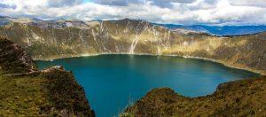 Quilatoa Jezioro Ekwador Ameryka Południowa